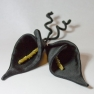 Black Lilies with gold bead stamen